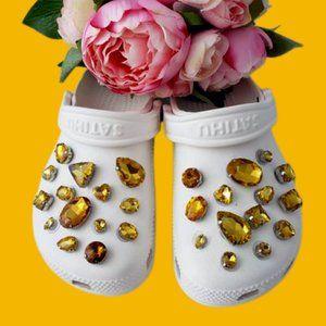 Crocs Shoe Jewel Charms YELLOW